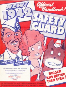 Image of the original official handbook cover of the Safety Guard, which really existed